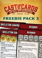 Cast of Cards: Freebie Pack 3 (Fantasy & Modern)