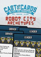 Cast of Cards: Robot City Archetypes (Sci Fi)