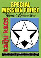Kaiju Kaos - Special Mission Force Stat Cards, Set 01