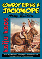 Kaiju Kaos: Cowboy Riding a Jackalope Stat Cards