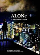 ALONe: A Solo Game Engine BETA