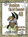 Avalon Clip Art Characters, Alien 9