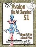 Avalon Clip Art Characters, Alien 11
