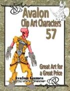 Avalon Clip Art Characters, Alien 15