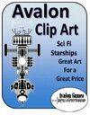 Avalon Clip Art, Starship Icons