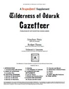 Wilderness of Ordurak Gazetteer