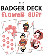 The Badger Deck, Flower Suit