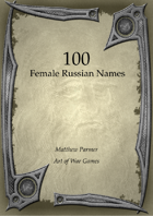 100 Russian Female Names