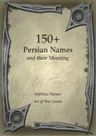 150+  Persian Names and Their Meaning