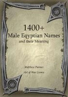 1400+  Male Eqyptian Names and Their Meaning