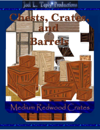 Chests, Crates, and Barrels Collection: Medium Redwood Crates