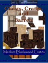 Chests, Crates, and Barrels Collection: Medium Blackwood Crates