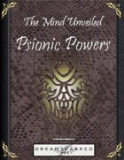 The Mind Unveiled: Psionic Powers