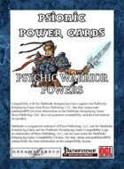 Psionic Power Cards: Psychic Warrior Powers