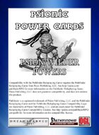 Psionic Power Cards: Psion/Wilder Powers