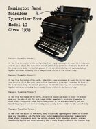 Remington Typewriter Font: TTF Font File