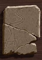 Ancient Cthulhu Cuneiform Tablet II - Nyarlathotep (Horror RPG Prop Handout)