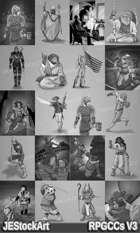 RPG Character Art Pack - Volume III