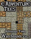 e-Adventure Tiles: Adventure Town Warehouses Vol. 1