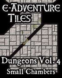 e-Adventure Tiles: Dungeons Vol. 4 - Small Chambers on RPGNow.com