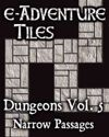 e-Adventure Tiles: Dungeons Vol. 5 - Narrow Passages