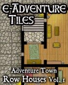 e-Adventure Tiles: Adventure Town - Row Houses Vol. 1