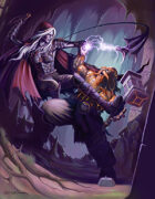 Cover full page - Drow vs Dwarf - RPG Stock Art