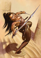 Cover full page - Dewa, Desert Warrior - RPG Stock Art