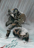 Cover full page - Orc Huntress - RPG Stock Art
