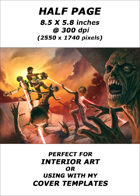 Half page - Robots vs Zombies - RPG Stock Art