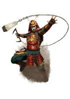 Filler spot colour - character: samurai spider armour - RPG Stock Art