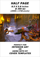 Half page - Tower Skirmish - RPG Stock Art