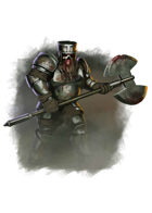 Filler spot colour - character: zombie dwarf in plate armour - RPG Stock Art