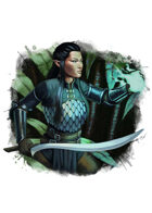 Filler spot colour - character: elf spellsword - RPG Stock Art
