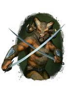 Filler spot colour - character: beastman warrior - RPG Stock Art
