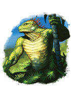 Filler spot colour - character: lizardman druid - RPG Stock Art