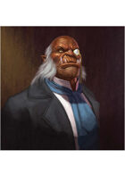Colour card art - character: gentleman orc - RPG Stock Art