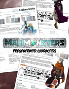 MajiMonsters Pre-generated Characters