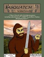 Sasquatch: A Character Class For Old School Games