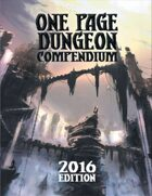 One Page Dungeon Compendium 2016 Print Edition