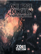 One Page Dungeon Compendium 2011 Print Edition