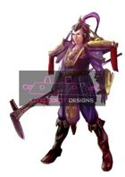 Cool Chinese Warrior With Chinese Spear - High Quality RPG Stock Art