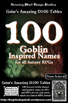 100 Goblin Inspired Names for all fantasy RPGs