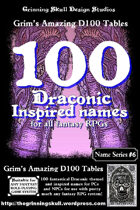100 Draconic Inspired Names for all fantasy RPGs