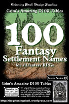 100 Fantasy Settlement Names for all fantasy RPGs