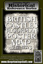Grinning Skull's Historical Reference Series: British Castles Floorplan Poster Map Collection 3