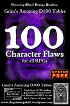 100 Character Flaws for all RPGs