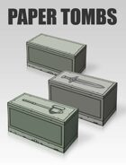 3D Paper Tombs | Papercraft objects and paper miniatures