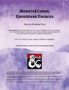 Monster Codex: Underdark Enemies