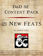 5e Content Pack - 21 New Feats